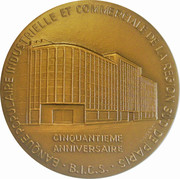 Medal - 50th anniversary of the Bank Populaire Industrielle et Commerciale – reverse