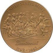 Large US Mint Bicentennial Bronze Medal – obverse