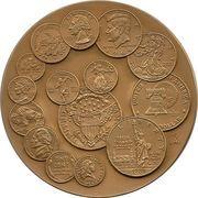 Large US Mint Bicentennial Bronze Medal – reverse