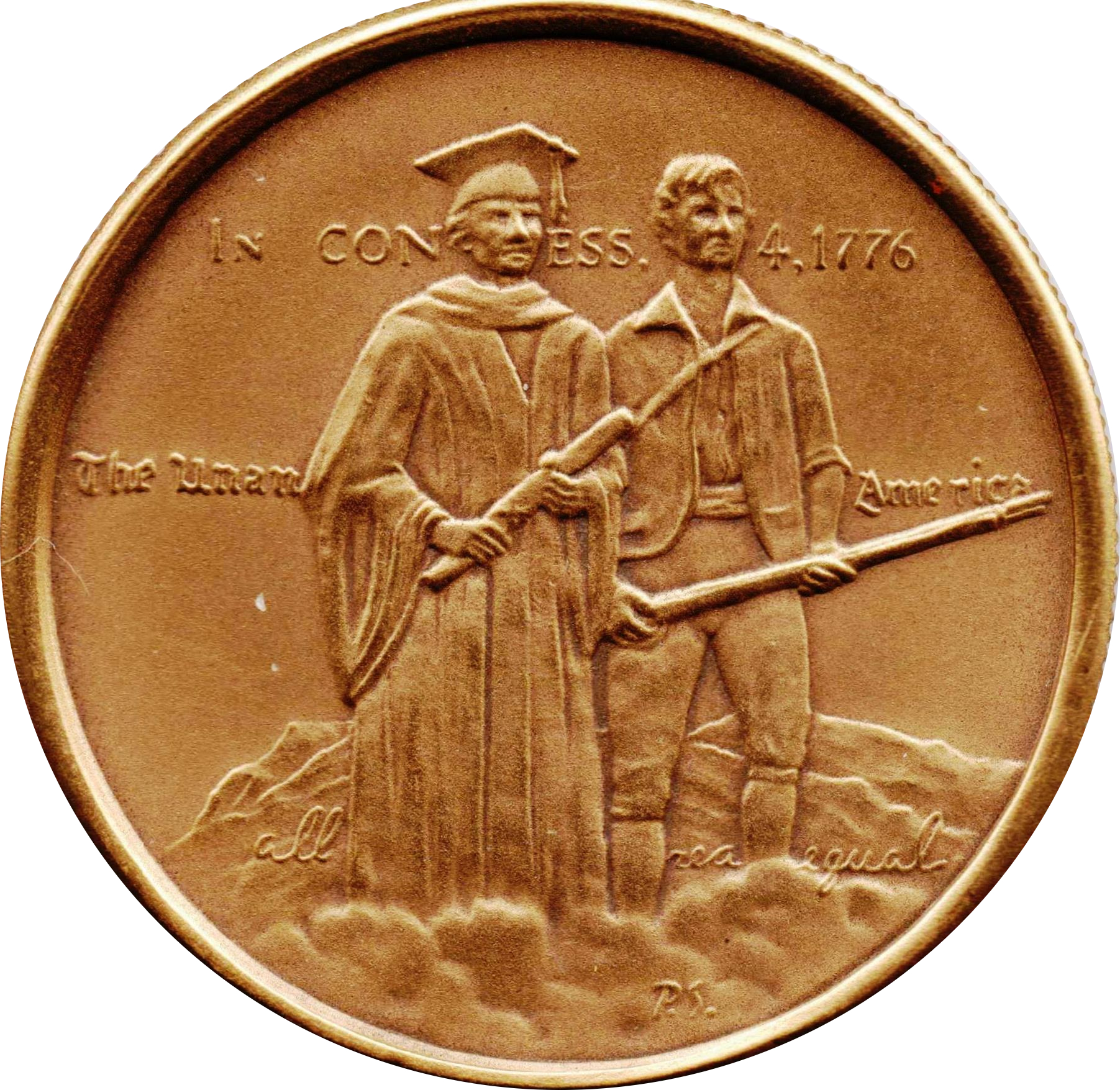 MASSACHUSETTS Official Sterling Silver Bicentennial PROOF Medal