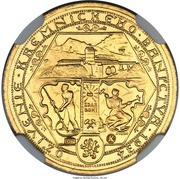 1 Dukát (Reopening of the Kremnica mines) – reverse