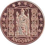 2 (Andorra Euro Fantasy Token) – obverse