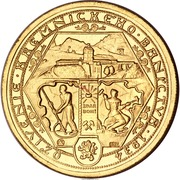 2 Dukáty (Reopening of the Kremnica mines) – reverse