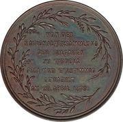 Medal - Alexander of Battenberg Election as Prince – reverse
