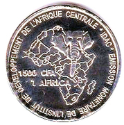 1500 Francs / 1 Africa – reverse