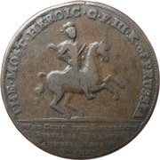 Frederick the Great medallion – obverse