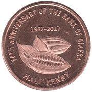 ½ Penny – obverse