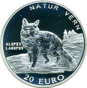 20 Euro - Harald V (Arctic fox) – reverse