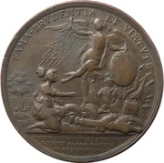 Seven Years War Battle of Prague Medal – reverse