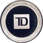 1 oz Silver (TD Bank Canada 150) – reverse