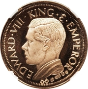 Crown - Edward VIII (gold) – obverse