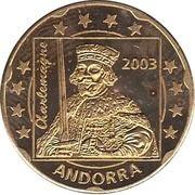 20 Cent (Andorra Euro Fantasy Token) – obverse
