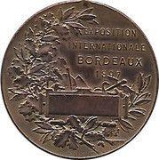 International Exhibition Bordeaux 1897 – reverse