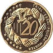 20 Cent (Andorra Euro Fantasy Token) – reverse