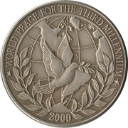 10 Dollars (World Peace for the third millennium) – reverse