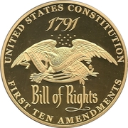 Medal - The Bill of Rights – reverse