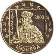 50 Cent (Andorra Euro Fantasy Token) – obverse