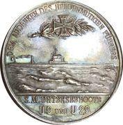 Medal - WWI Kapitänleutnant Otto Eduard Weddigen – reverse