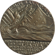 Medal - The Sinking of the S. S. Lusitania – obverse