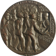 Medal - The Sinking of the S. S. Lusitania – reverse