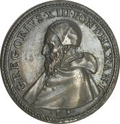 Medal - Pope Gregory XIII (Slaughter of the Huguenots) – obverse