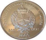 500 Liras (Zeus) – obverse