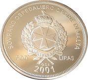 500 Liras (Athena) – obverse