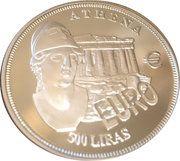 500 Liras (Athena) – reverse