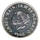 10 Francs - Rainier III (10th Wedding Anniversary; Medallic Coinage) – obverse