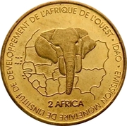 3000 Francs / 2 Africa (IDAO coinage) – reverse