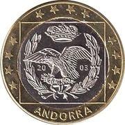 1 (Andorra Euro Fantasy Token) – obverse