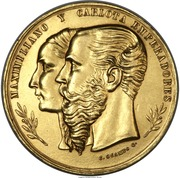 Medal - Maximilian and Carlota – obverse