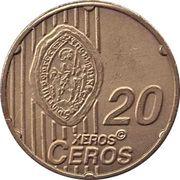 20 Xeros Ceros (San Marino Euro Fantasy Token) – reverse