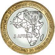 4500 Francs CFA / 3 Africa (Lamb) – reverse