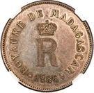 5 Francs - Queen Ranavona III – reverse