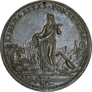 Liberalitas Pontificia - Pope Leo X – reverse
