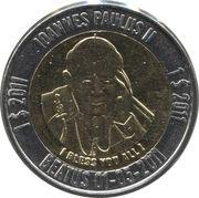 1 Dollar (John Paul II) – reverse
