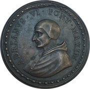 Coronoation of the pope - Pope Adrian VI – obverse