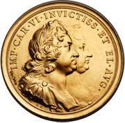 Medal - 10 Ducats - Coronation of Charles VI and 1000th Anniversary Prague – obverse