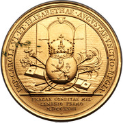 Medal - 10 Ducats - Coronation of Charles VI and 1000th Anniversary Prague – reverse