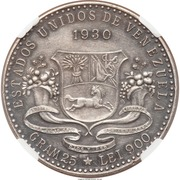 5 Bolivares (General Juan Vicente Gómez Chacón) – obverse