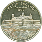 5 oz silver (Ellis Island) – reverse