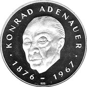 Zweiter Europa Taler (Konrad Adenauer) – reverse