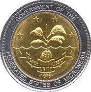 1 Dollar (President Urusemal) – obverse