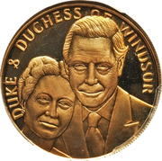 Duke and Duchess of Windsor – obverse