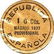 10 Centimos (Madrid) – reverse