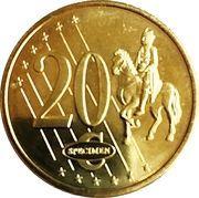20 Cent (Slovakia Euro Fantasy Token) – reverse