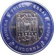 2 E (Andorra Euro Fantasy Token) – obverse