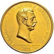 Medal -  Coronation of Alexander II – obverse