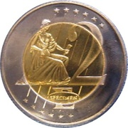 2 E (Andorra Euro Fantasy Token) – reverse